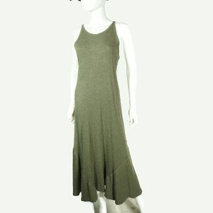 Soft Surroundings Womens Ribbed Boatneck Maxi